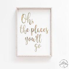 Oh The Places You'll Go Nursery Wall Art Travel Nursery Map Nursery, Nursery Themes, Nursery Prints, Nursery Decor, Girl Nursery, Travel Theme Decor, Travel Theme Nursery, World Traveler Nursery, Compass Art