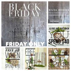 BLACK FRIDAY FREE GIFT SPECIALS. CHECK OUT ALL RUSTIC DECOR FROM SILVA DESIGN!