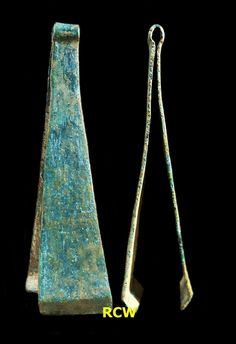Tweezers; copper; founded at Mount Putri - Lamongan regency - East Java province- Indonesia (2017), circa 14th-15th century AD or Majapahit Kingdom period.