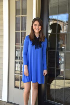 Piko Dress, Royal Blue