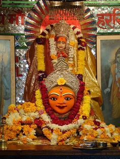 Harsidhi or Ujjaini Shaktipeeth: Devi's elbows fell here and the idols are Devi as Mangalchandi (Durga) and Shiva as Kapilambar (one who wears the brown clothes). It is located in Ujjain, Madhya Pradesh,India.