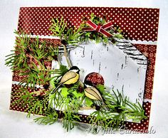 KC Impression Obsession Bird Die tutorial on how to use a die to cutout stamped image Scrapbooking, Scrapbook Cards, 1st Christmas, Christmas Cards, Twig Wreath, Bee Cards, Impression Obsession, Card Tutorials, Paper Cards