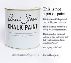 Feel free to share x #dovetailsvintage #anniesloan #chalkpaint #morethanpaint