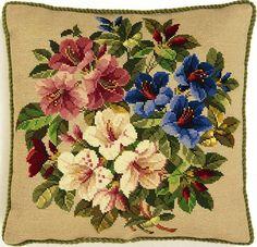Eva Rosenstand needlepoint pillow design.