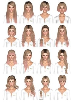 Hair Dump 5 by July Kapo for Sims 3 - Sims Hairs - http://simshairs.com/hair-dump-5-by-july-kapo/