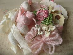 SALE SALE Vintage millinery flowers and rose applique goodies crafting pack