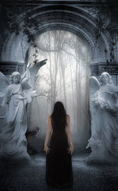 Portal to an unknown realm... A familiar guide awaits, to usher her safely onwards.