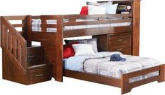 Carter's Kids Collection  Lost Creek Espresso Jr. Step Twin Twin Bunk