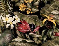 Jungle print for AMI s/s 2014 by Violaine & Jeremy, via Behance