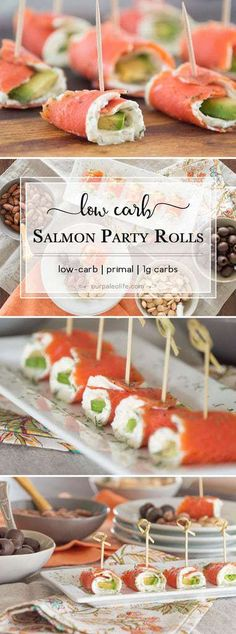 You Have Meals Poisoning More Normally Than You're Thinking That These Low-Carb Salmon Party Rolls Give You All The Fantastic Flavor Of Smoked Salmon, Plus A Boost Of Added Fats From The Avocado, And Creamy Goodness From The Herb Cream Cheese. Smoked Salmon Cream Cheese, Smoked Salmon Appetizer, Smoked Salmon Recipes, Smoked Salmon Sushi, Salmon Roll, Keto Salmon, Grilled Salmon, Baked Salmon, Seafood Recipes
