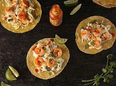 Spicy Shrimp Tacos with Creamy Slaw