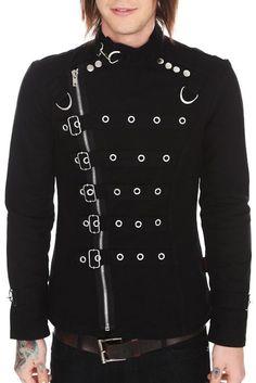 d96517968198 Black Jacket w  Chrome Zipper   Buckles by Tripp NYC