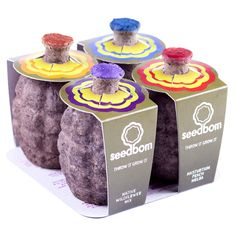 Seedbombs... perfect for Guerilla Gardening.