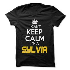 Keep Calm I am ... SYLVIA - Awesome Keep Calm Shirt ! - #graduation gift #coworker gift. GET IT NOW => https://www.sunfrog.com/Hunting/Keep-Calm-I-am-SYLVIA--Awesome-Keep-Calm-Shirt-.html?68278