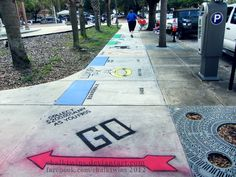 Life Size McDonald's Monopoly Board by ChalkTwins.deviantart.com on @deviantART