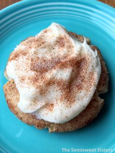 Frosted Snickerdoodle Cinnamon Cookies with Cream Cheese Frosting