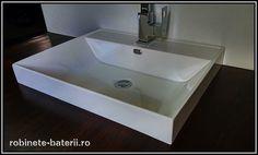 Lavoar dreptunghiular Maltese 57 x 45 cm din compozit marmura