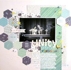 12 x 12 / scrapbook / hexagons