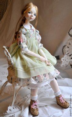 Купить Осень в Провансе - бледно-розовый, кукла ручной работы, авторская кукла, прованс