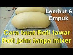 Cara buat roti tawar lembut tanpa mixer untuk roti john empuk enak - YouTube Roti Bread, Bread Bun, Bread Cake, Baked Donut Recipes, Baked Donuts, Pastry Recipes, Indonesian Desserts, Indonesian Cuisine, Soft Bread Recipe