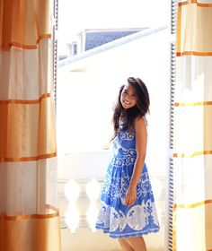 nice france | anthropologie azure lace dress | photo by stacey ann loves