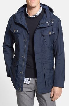 55d90e6cceb Free shipping and returns on Timberland 'Mount Shaw - Cordura®' HyVent®  Regular Fit Canvas Jacket at Nordstrom.com. When spring blows in like a  lion, ...