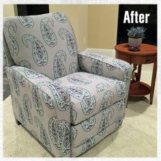 How to Reupholster a Recliner & Reupholstering a Recliner Chair. It only cost $20.00! | Furniture ... islam-shia.org