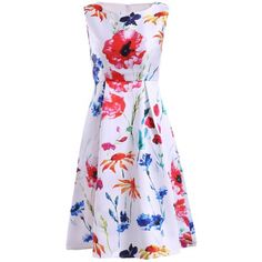 26.53$  Buy here - http://di4i1.justgood.pw/go.php?t=184695301 - Simple Style Jewel Neck Sleeveless Floral Print Dress For Women