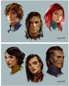 These are beautiful!! (Characters from the Stormlight Archive)