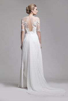 Illusion & Portrait Back Wedding Dresses from Camille Garcia Bridal RTW Best Wedding Dresses, Designer Wedding Dresses, Wedding Gowns, Camille, Bridal Boutique, Bridal Gowns, Couture, Bride, Collection