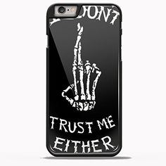 I Dont Trust Me Either Luke Hemmings 5SOS for iPhone 6/6s Plus Black case