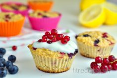 Citrónovo-ovocné muffiny z ovsených vločiek Leg And Glute Workout, Exercise Workouts, Diet Recipes, Healthy Recipes, Oreo Cupcakes, Cottage Cheese, Cheesecake, Vegan, Cooking
