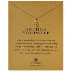 Dogeared Anchor Yourself Necklace, 18