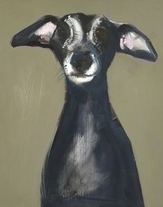 Today's advent artwork is the lovely 'Whippet', oil on board, x x by Sally Muir Whippet, New Art, Eye Candy, Past, Sculptures, Gallery, Advent, Artwork, Dogs