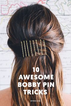 10 beauty hacks you didn't know you could do with bobby pins.