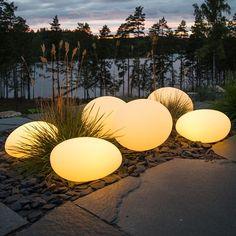 Belysning Lysande sten 35x35 cm