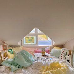Room Design Bedroom, Room Ideas Bedroom, Bedroom Decor, Bedroom Inspo, Pastel Room, Pastel Decor, Cute Room Decor, Minimalist Room, Pretty Room