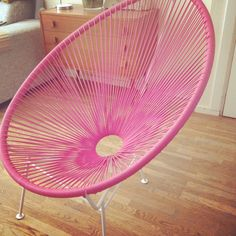 Bought this Acapulco Chair for Vicky's room!