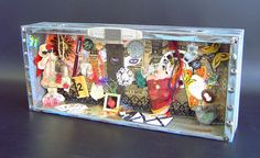 OOAK altered art assemblage diorama shadow box by ARTchaeology, $195.00