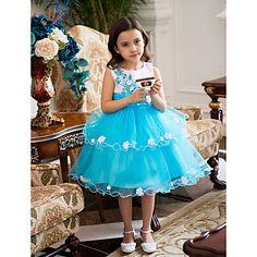 Ball Gown  Knee-length Flower Girl Dress – USD $ 29.99