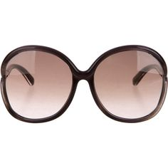 Pre-owned Tom Ford Oversize Gradient Sunglasses ($130) ❤ liked on Polyvore featuring accessories, eyewear, sunglasses, purple, gradient glasses, tom ford sunglasses, purple glasses, over sized sunglasses and oversized glasses