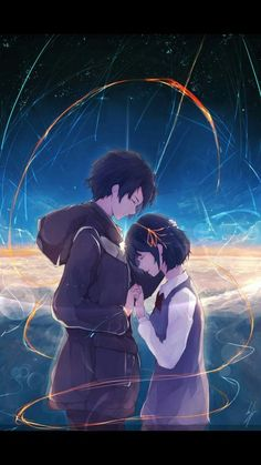 Anime Couples Anime Music Treasures That Will Make Your Heart Pound Stronger - Anime music treasures from the best anime OST to our favorite anime singer you will find the best anime songs of all time. Hd Anime Wallpapers, Android Wallpaper Anime, Cute Anime Wallpaper, Kimi No Na Wa Wallpaper, Couple Wallpaper, Music Wallpaper, Kawaii Anime, Sad Anime, Anime Love Couple
