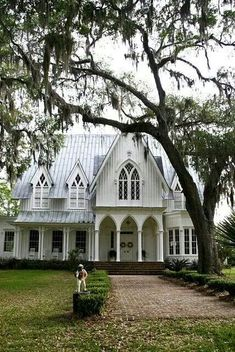 Overall very pretty take on a gothic revival. I think I'd prefer a darker roof for more drama.