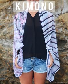 How To Tie A Scarf Kimono Style - Fashion Scarves, Silk Scarves, Made in the USA, Inspiration | EMKYSHOP