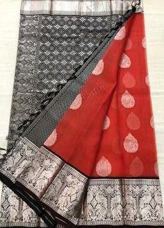 Latest Pure Kanchi Kora Silk Sarees Kora Silk Sarees, Kanjivaram Sarees, Saree Blouse Neck Designs, Blouse Designs, Indian Clothes, Indian Outfits, Bridal Silk Saree, Saree Shopping, Wedding Sarees