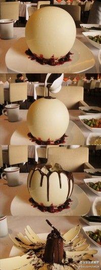 witte chocolade bol met een verrassing :)