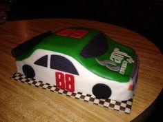 NASCAR Dale Jr Amp Energy #88 race car cake