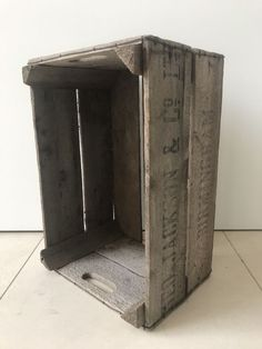 Vintage Antiqued Wooden Box Crate Trug Cornwall Post Office Sorting Box