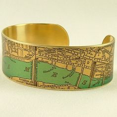 London Map Jewelry  Antique Street Map  British by JezebelCharms charm bases, blanks: http://www.ecrafty.com/c-6-photo-jewelry.aspx