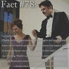 "214 Synes godt om, 1 kommentarer – Twilight Facts (@twilightfactss) på Instagram: ""~ I feel bad for Charlie. His parents were sick and his wife left with their child - Autumn…"""